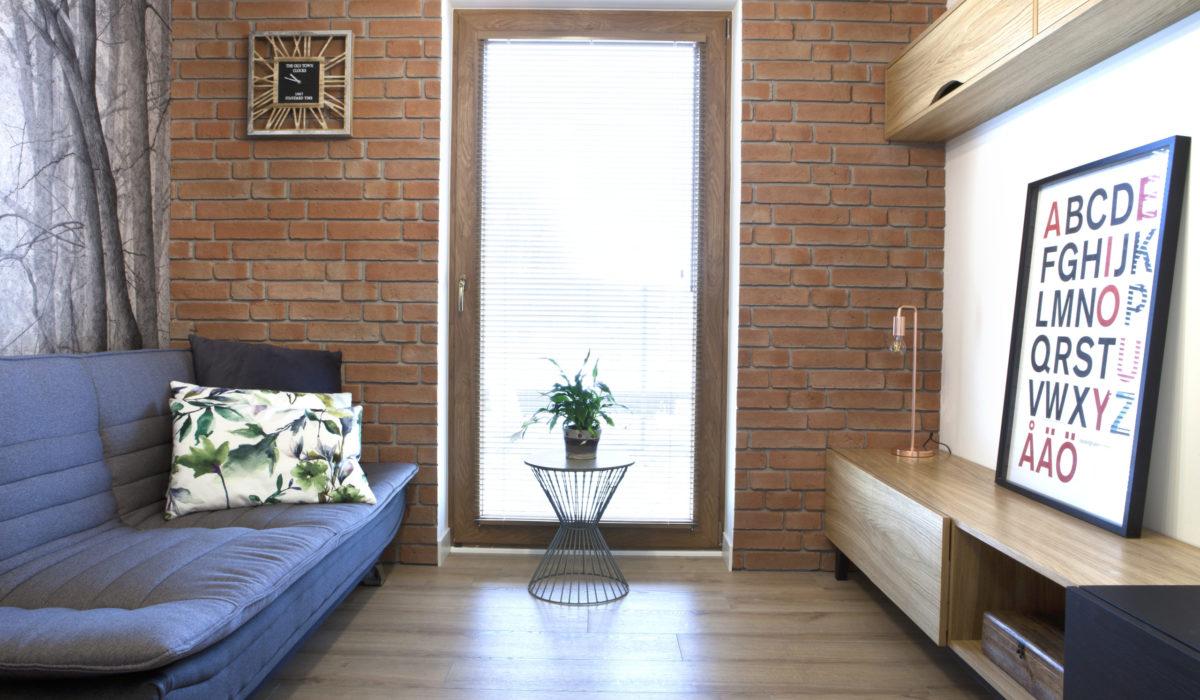 projekt pokoju dziennego chata id - projektowanie wnętrz nadarzyn, warszawa, rusiec Dom w stylu Współczesnym